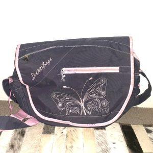Pink and grey baby bag